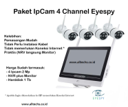 Paket Ip CCTV Eyespy plus Monitor dan Harddisk 4 Channel